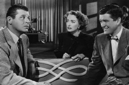 With Jack Carson (left) and Dennis Morgan. Source: Hulton.
