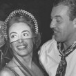 With Cesar Romero.