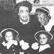 Circa 1950. Joan and the kiddos at Sunday School.