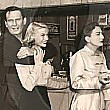 1950. On the set of 'Harriet Craig': Wendell Corey, K.T. Stevens, Joan, director Vince Sherman. And some COKES!