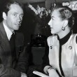 1950. On the set of 'Harriet Craig' with Mel Ferrer.