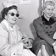 1950. With Lana Turner and George Cukor on Lana's 'Life of Her Own' set.