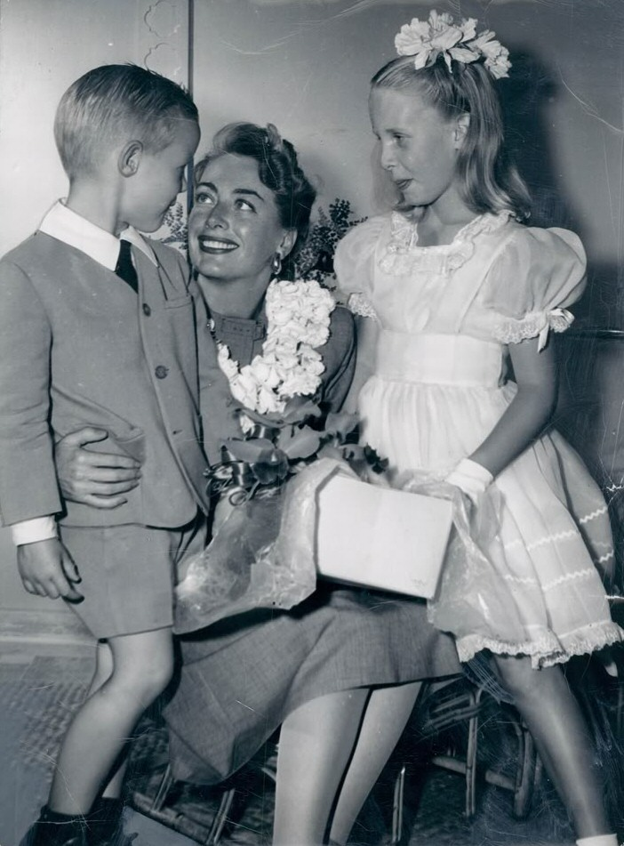 May 1950. With Christopher and Christina.