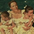 1950. With the Twins, Christina, and Christopher from unknown magazine.