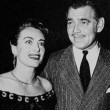 Circa 1949, with Clark Gable and Louella Parsons at the Brown Derby.