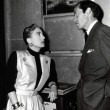 With Mel Ferrer on the set of 'Harriet Craig.'
