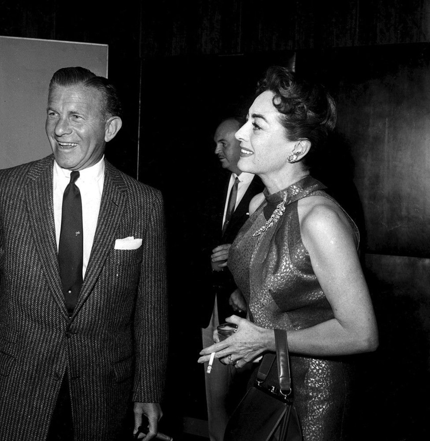 October 1955. At a Hollywood event with George Burns.