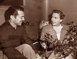 On the set of 1950's 'Harriet Craig.'
