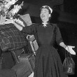 August 2, 1952. Joan and luggage at Grand Central Station. In town for her 'Sudden Fear' premiere.