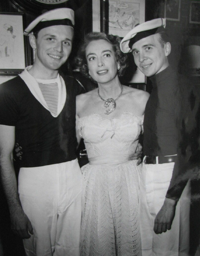 1952 candid with sailors.