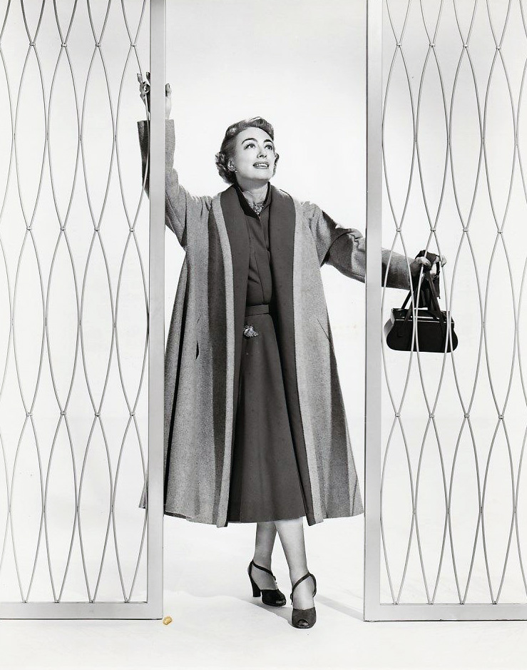1953. 'Torch Song' publicity with Helen Rose wardrobe.