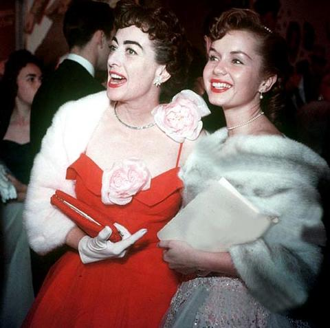 April 1954. With Debbie Reynolds.