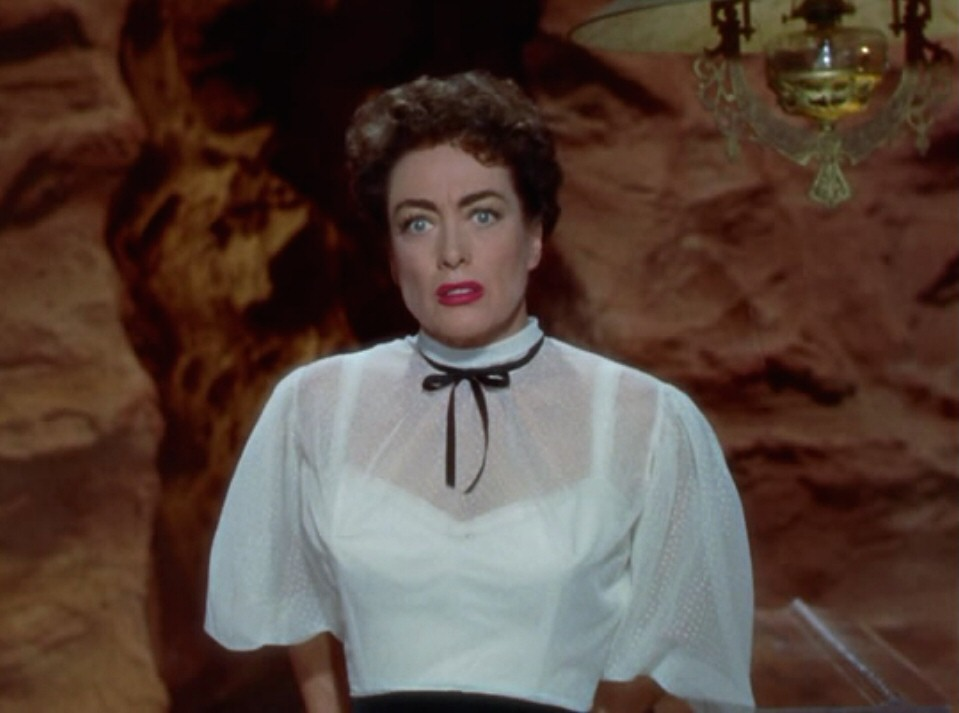 1954. A screen shot from 'Johnny Guitar.'