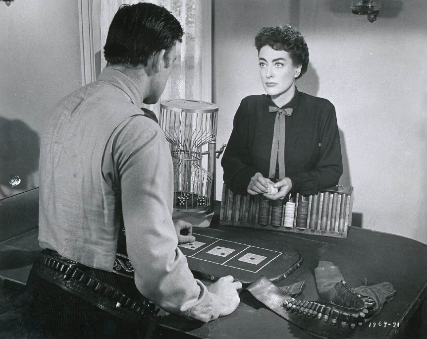 1954. 'Johnny Guitar.' With Scott Brady.