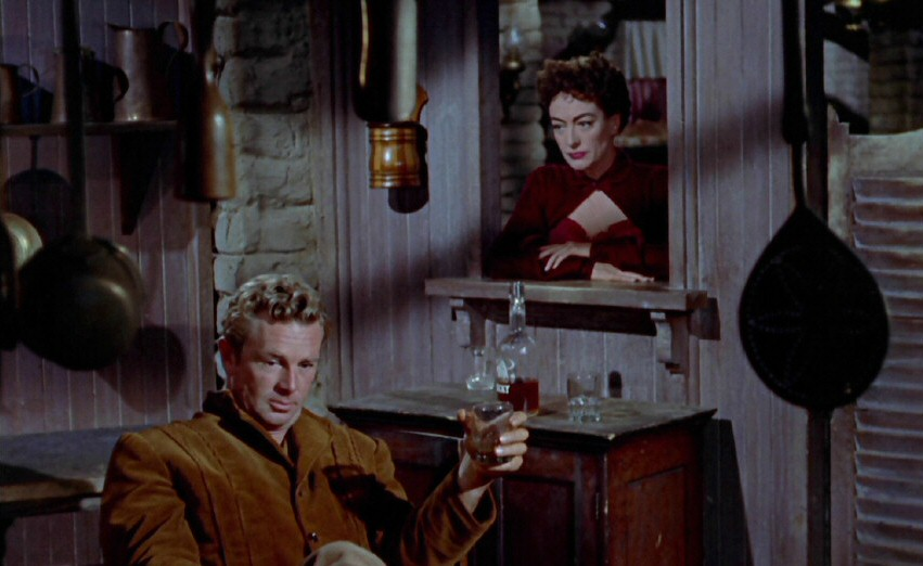 1954. Screen shot from 'Johnny Guitar.' With Sterling Hayden.
