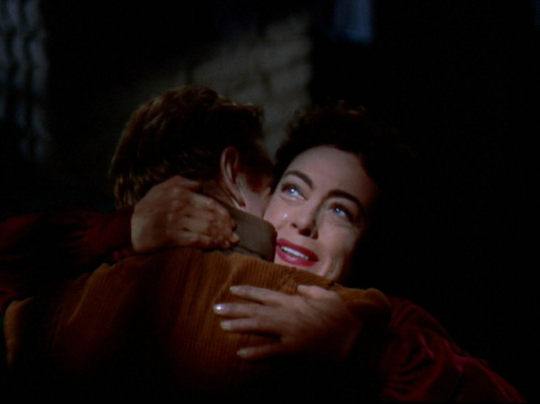 1954. Screen shot from 'Johnny Guitar' with Sterling Hayden.