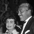 At the 9/29/54 'Star is Born' premiere, with unknown man, Marie Wilson, and Cesar Romero.