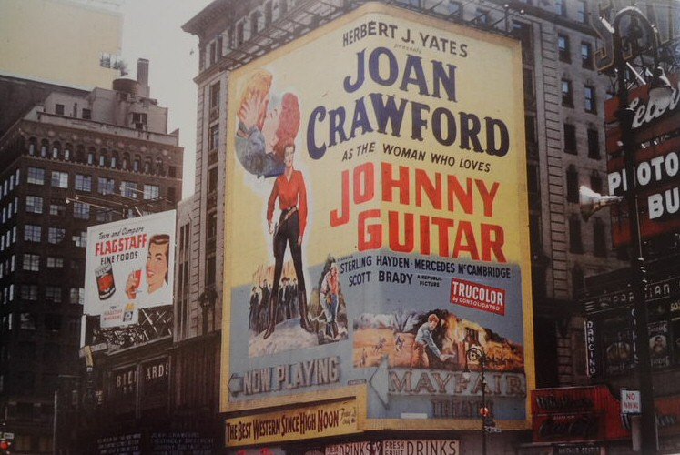 1953 Times Square billboard for 'Johnny Guitar.'