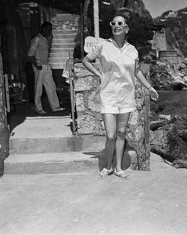 June 21, 1955. Honeymooning in Capri.