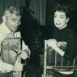 With Jeff Chandler. (Thanks to Shane.)