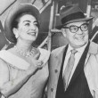 May 1958. With husband Al Steele at NY's International Airport.