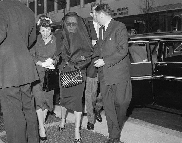 April 22, 1959. Arriving for Al Steele's