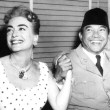June 1959. On the 20th Century Fox lot with Indonesian president Sukarno.
