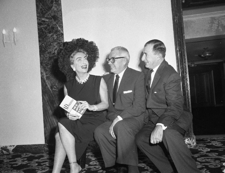April 8, 1959. Pepsi press conference with Pepsi president/hubby Al Steele and Pepsi exec Herbert Barnet.