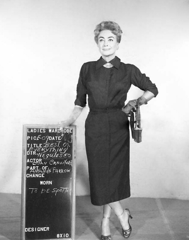 1959 wardrobe test for 'The Best of Everything.' (Thanks to Bryan Johnson.)