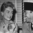 June 1959. Lunch with Indonesian president Sukarno on the 20th-Century Fox lot. (Thanks to Bryan Johnson.)
