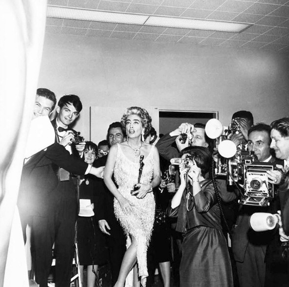 4/8/63. Backstage at the Academy Awards.