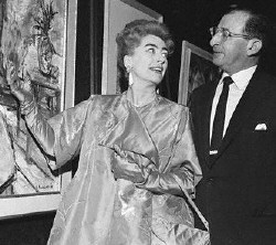 Joan with PepsiCo president Herb Barnet, in the Pepsi lobby, early 1960s.