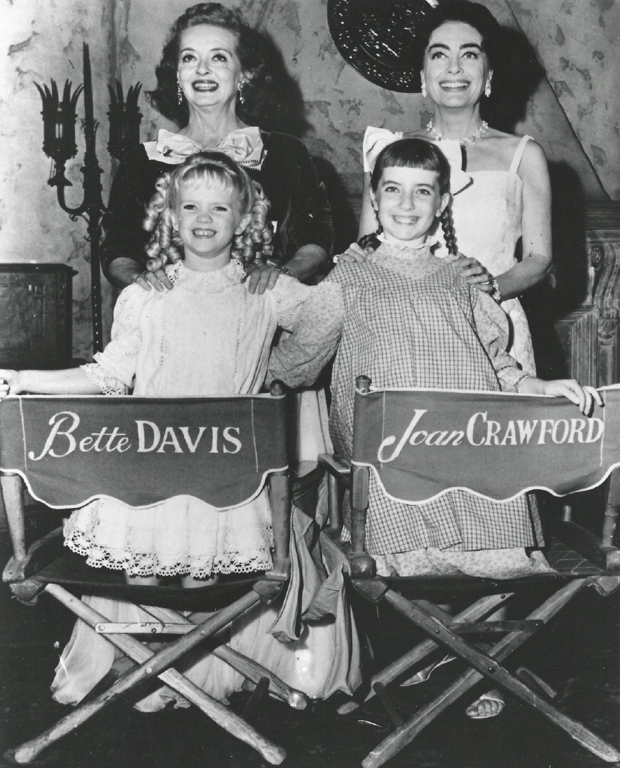 1962. On the set of 'What Ever Happened to Baby Jane.'