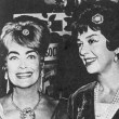 July 1962. Joan and Rosalind Russell at the Beverly Hilton for the Golden Globes awards banquet.
