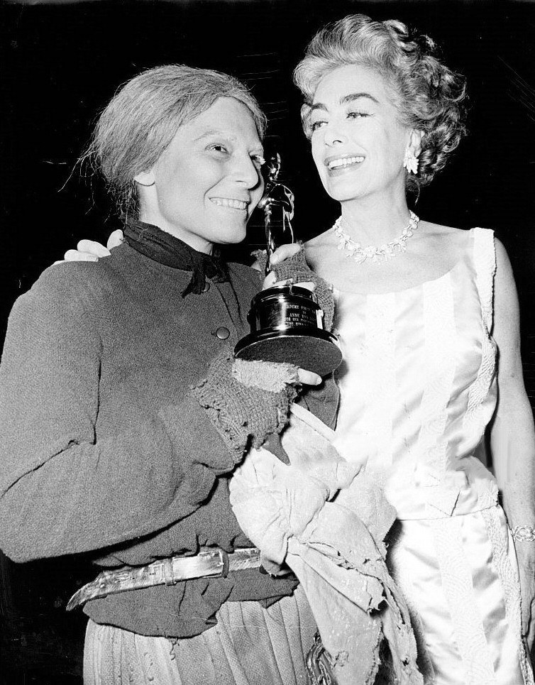 May 1963. Delivering Anne Bancroft's Oscar on the set of 'Mother Courage and Her Children.'