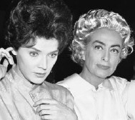 Joan and Polly Bergen on the set of 'The Caretakers.'