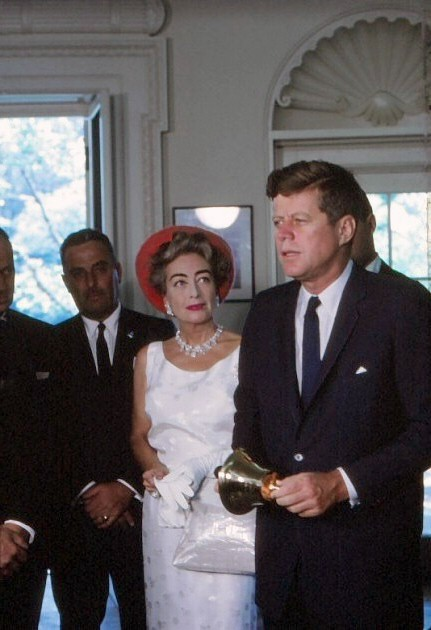 May 3, 1963. In the Oval Office with JFK, promoting 'Mental Health Week.'