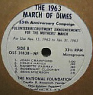 1963 March of Dimes promotion.