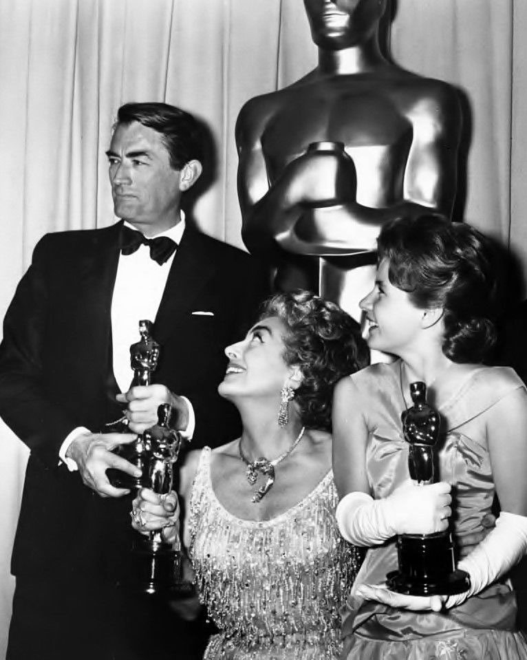 4/8/63 at the Oscars with Gregory Peck and Patty Duke.