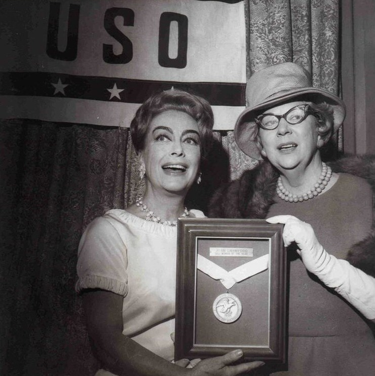 1965. The USO's 'Woman of the Year.'