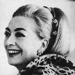 6/30/67, in her 5th Avenue apartment. Publicity for Alixandre furs' 40th anniversary.