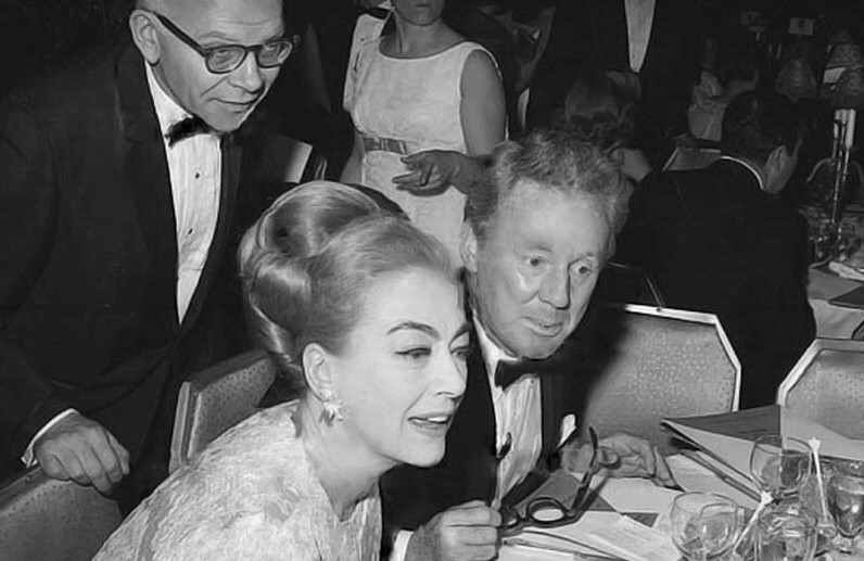 March 12, 1967. With John Springer and Van Johnson at the Waldorf's benefit for brain-damaged children. (Thanks to Bryan Johnson.)