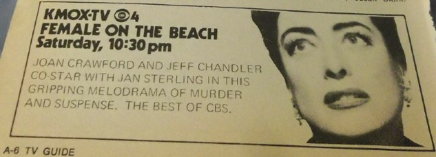 1971 Kansas City, Missouri, ad in 'TV Guide' for 'Female on the Beach.'