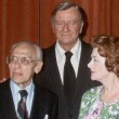 June 24, 1977. At Samuel Goldwyn Theater tribute to Joan in Beverly Hills. With George Cukor, John Wayne, Myrna Loy, Steven Spielberg.