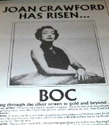 U.S. trade ad promoting BOC's 'Joan Crawford.' Click to enlarge.