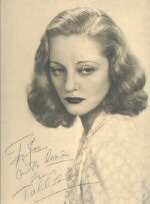 An autographed photo: 'To Joan with love from Tallulah'