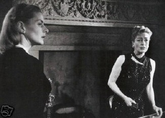 Joan with Ingrid Bergman, circa 1959 - 60.