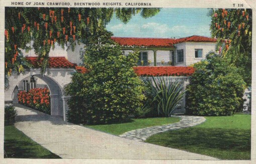 A 1930s postcard depicting the front of Joan's home.