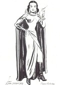 1964. A personal gift from cartoonist Milton Caniff to Joan. Click to see larger version, plus a 1965 gift-sketch.