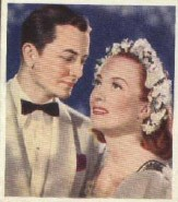 With Robert Young in 'The Bride Wore Red'